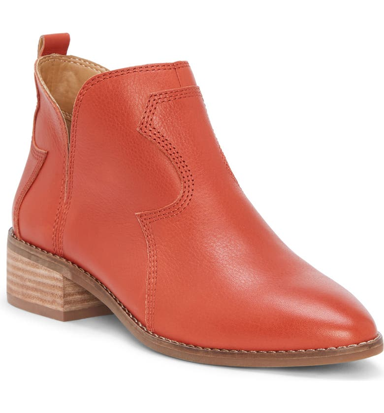 LUCKY BRAND Leymon Western Bootie, Main, color, PICANTE LEATHER