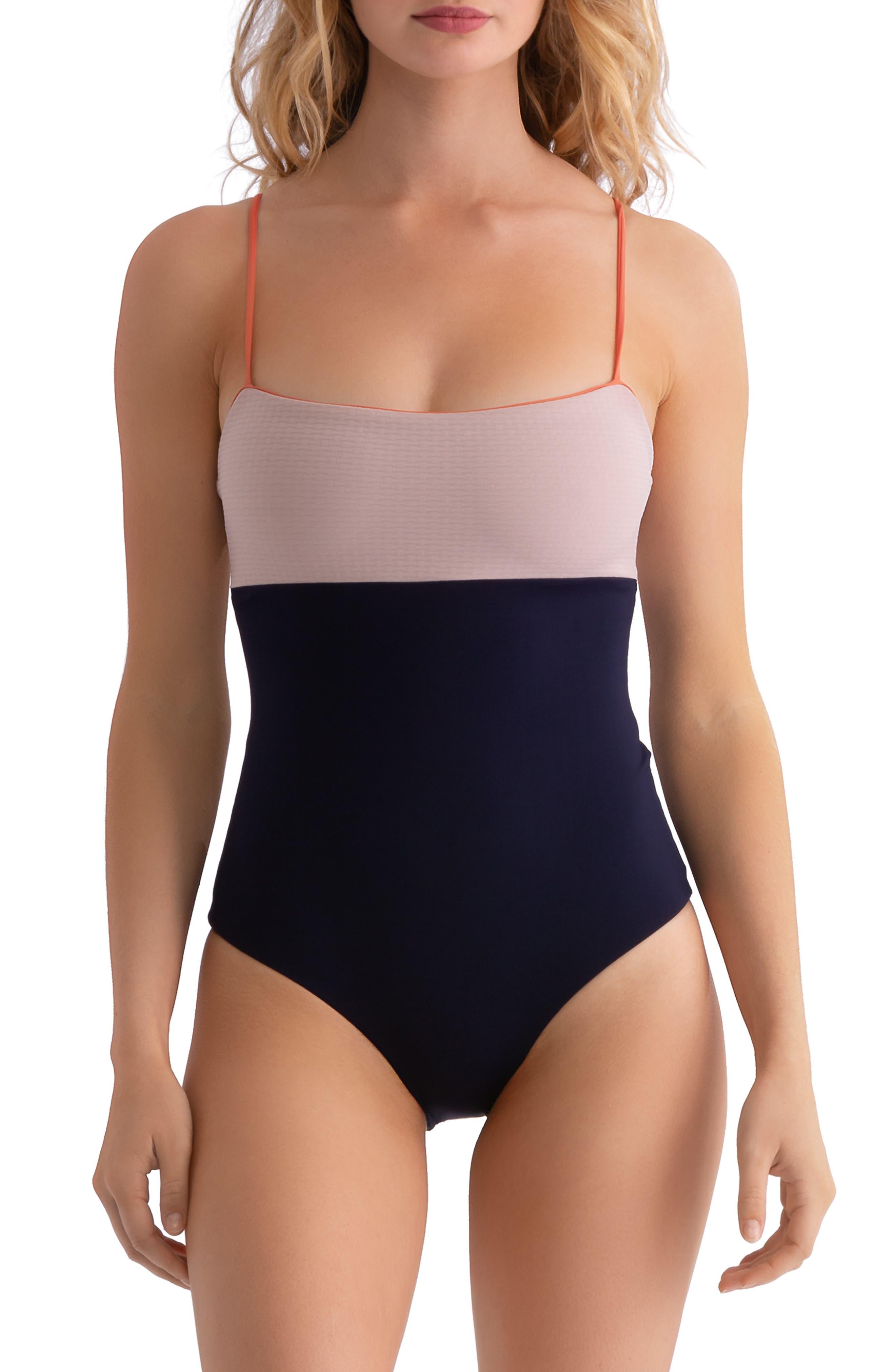 Tavik Scarlett Colorblock One-Piece Swimsuit, Blue
