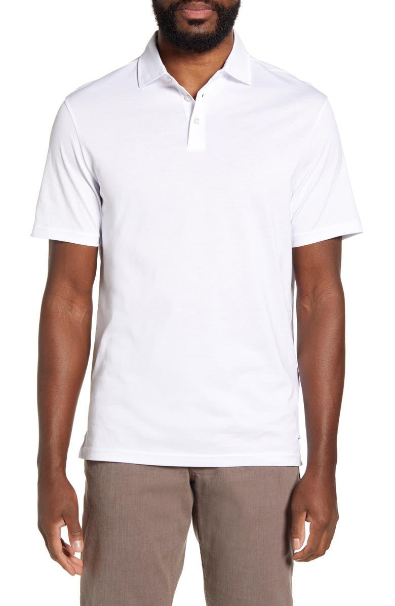 BRAX Pepe Solid Cotton Polo, Main, color, WHITE