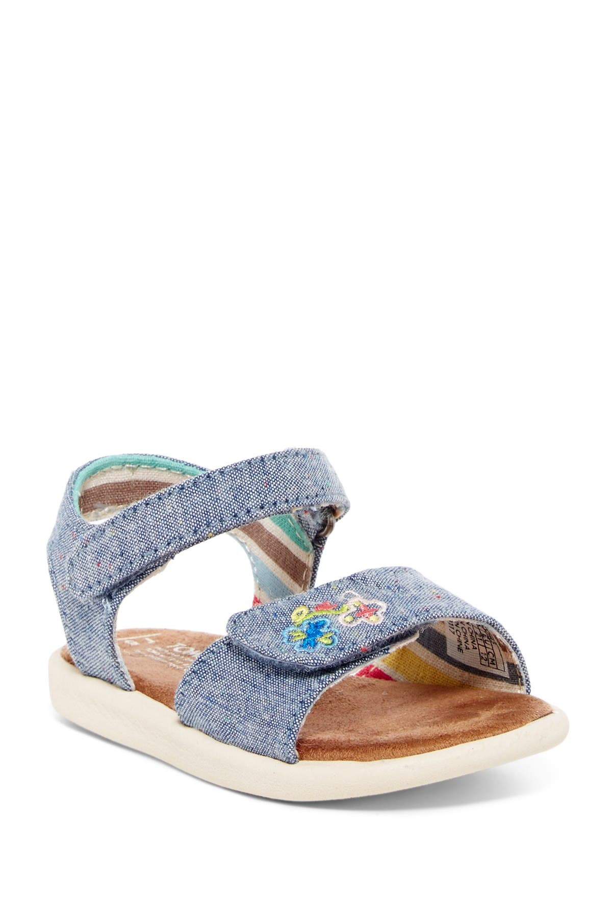 Image of TOMS Sparkle Chambray Strap Sandal