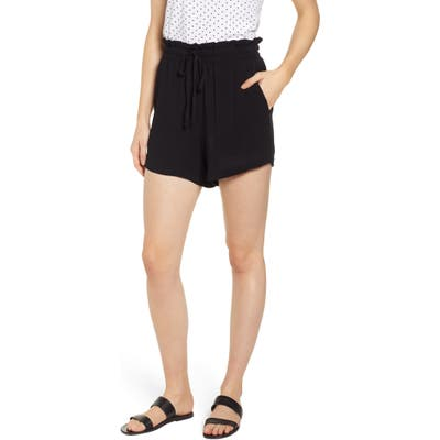 Petite Gibson X Hi Sugarplum! Cabo Drawstring Shorts, Black (Regular & Petite) (Nordstrom Exclusive)