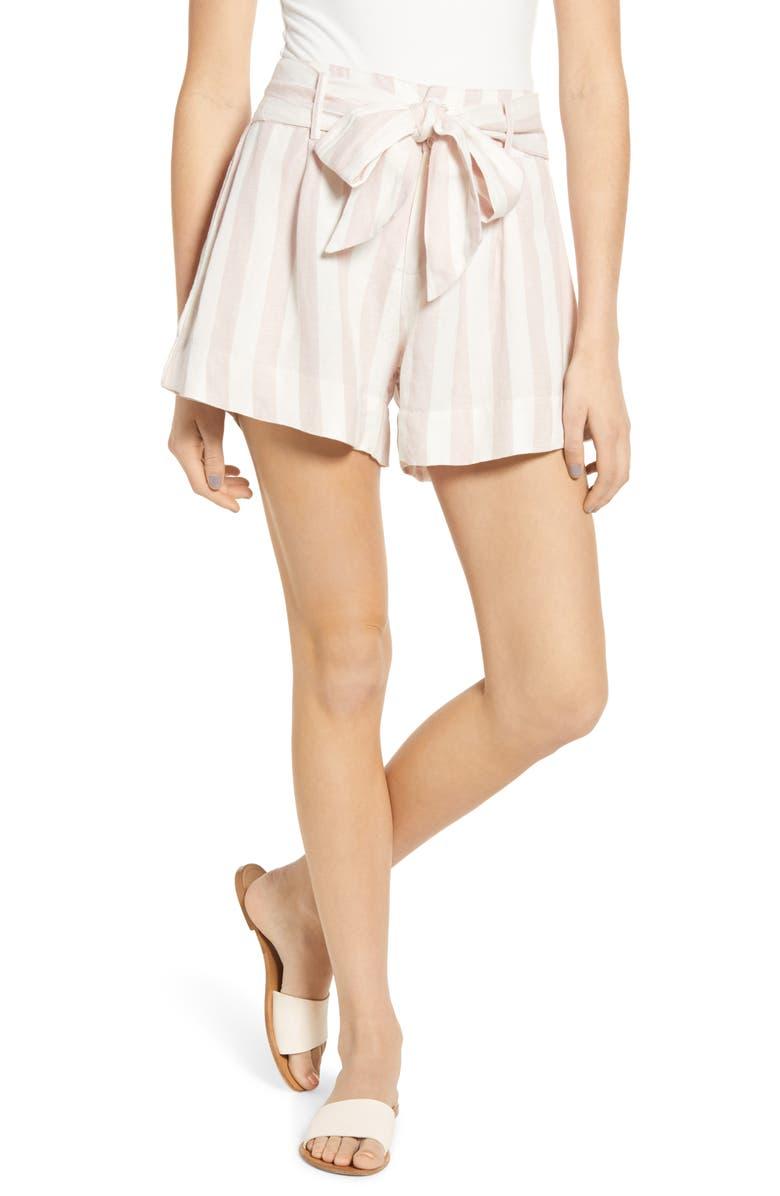 RAILS Katy Stripe Shorts, Main, color, PETAL STRIPE