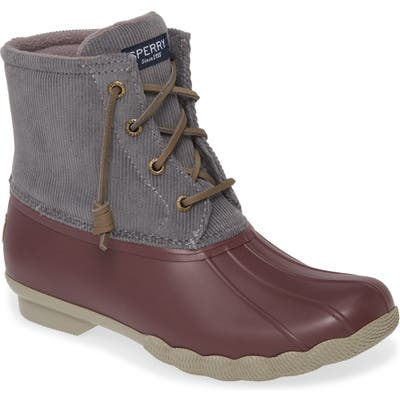Sperry Saltwater Waterproof Rain Boot, Grey