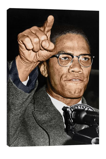 Image of iCanvas Malcolm X (1925-1965) by Granger