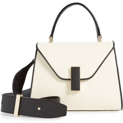 Valextra Mini Iside Colorblock Leather Top Handle Bag - White