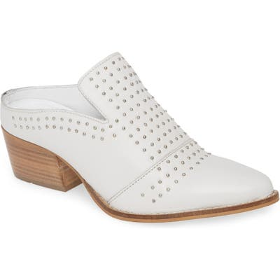 Very Volatile Russo Studded Mule, White