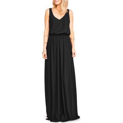 Show Me Your Mumu Kendall Soft V-Back A-Line Gown, Black