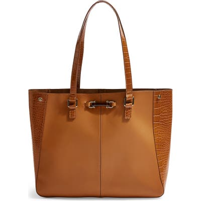 Topshop Mace Shoulder Tote Bag - Brown