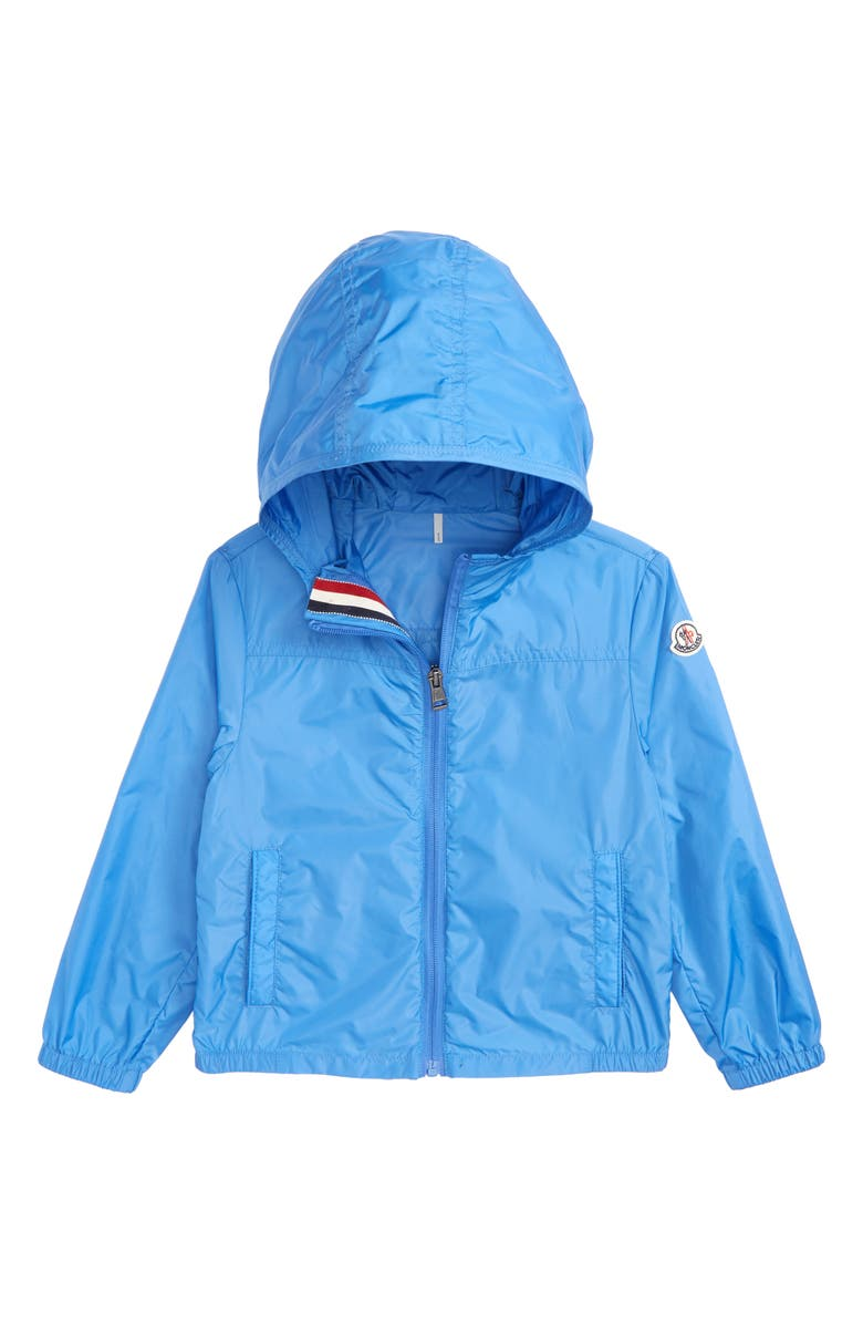 MONCLER Fronsac Nylon Hooded Windbreaker, Main, color, SKY BLUE