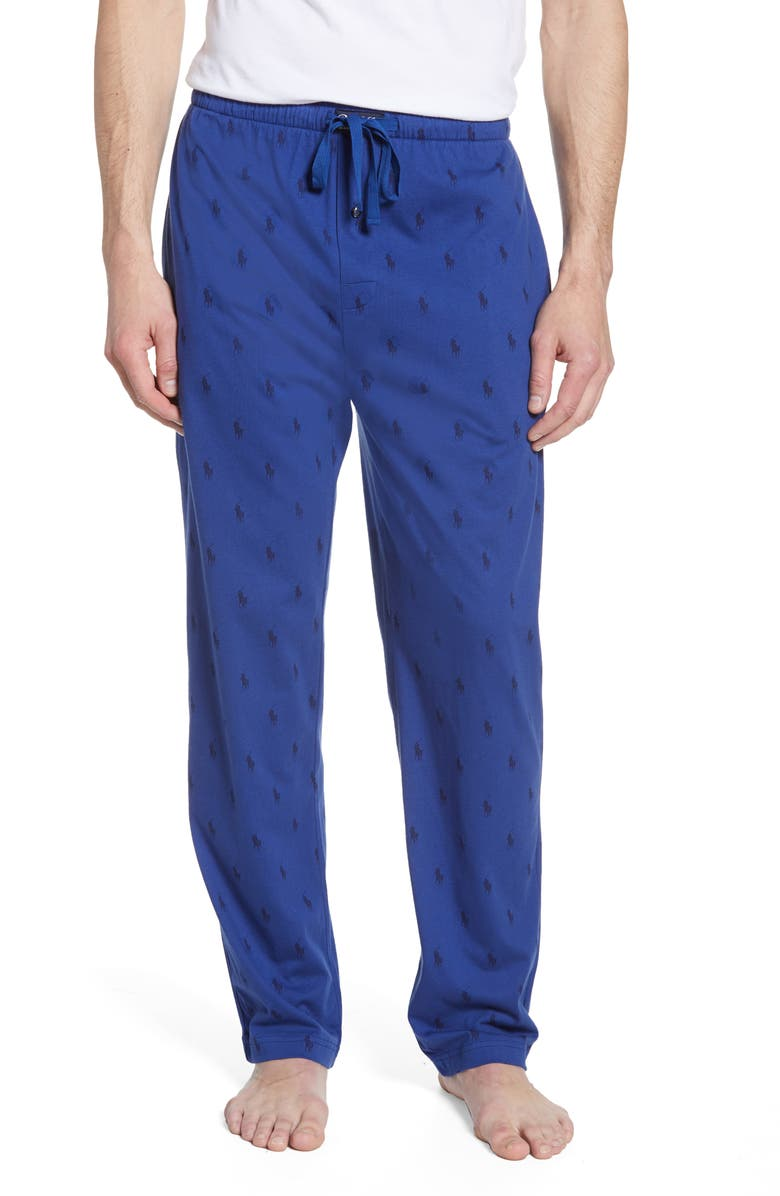 POLO RALPH LAUREN All Over Pony Lounge Pants, Main, color, BLUE
