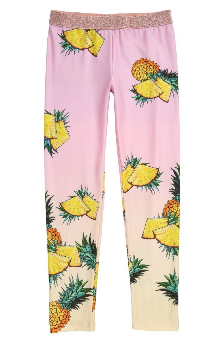 TRULY ME Pineapple Leggings, Main, color, LIGHT PINK