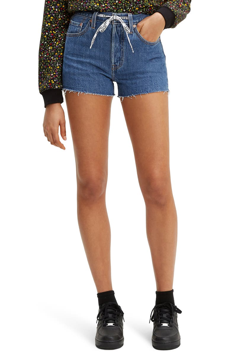 LEVI'S<SUP>®</SUP> 501<sup>®</sup> High Waist Cutoff Denim Shorts, Main, color, DRAW-BACK