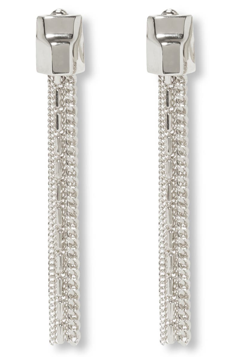 VINCE CAMUTO Tassel Linear Clip Earrings, Main, color, 041
