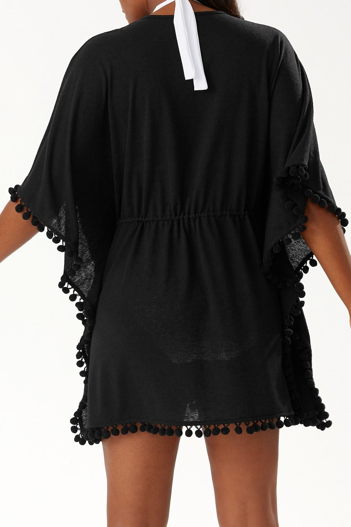 Image of Tommy Bahama Elbow Sleeve Pompom Cover-Up Tunic