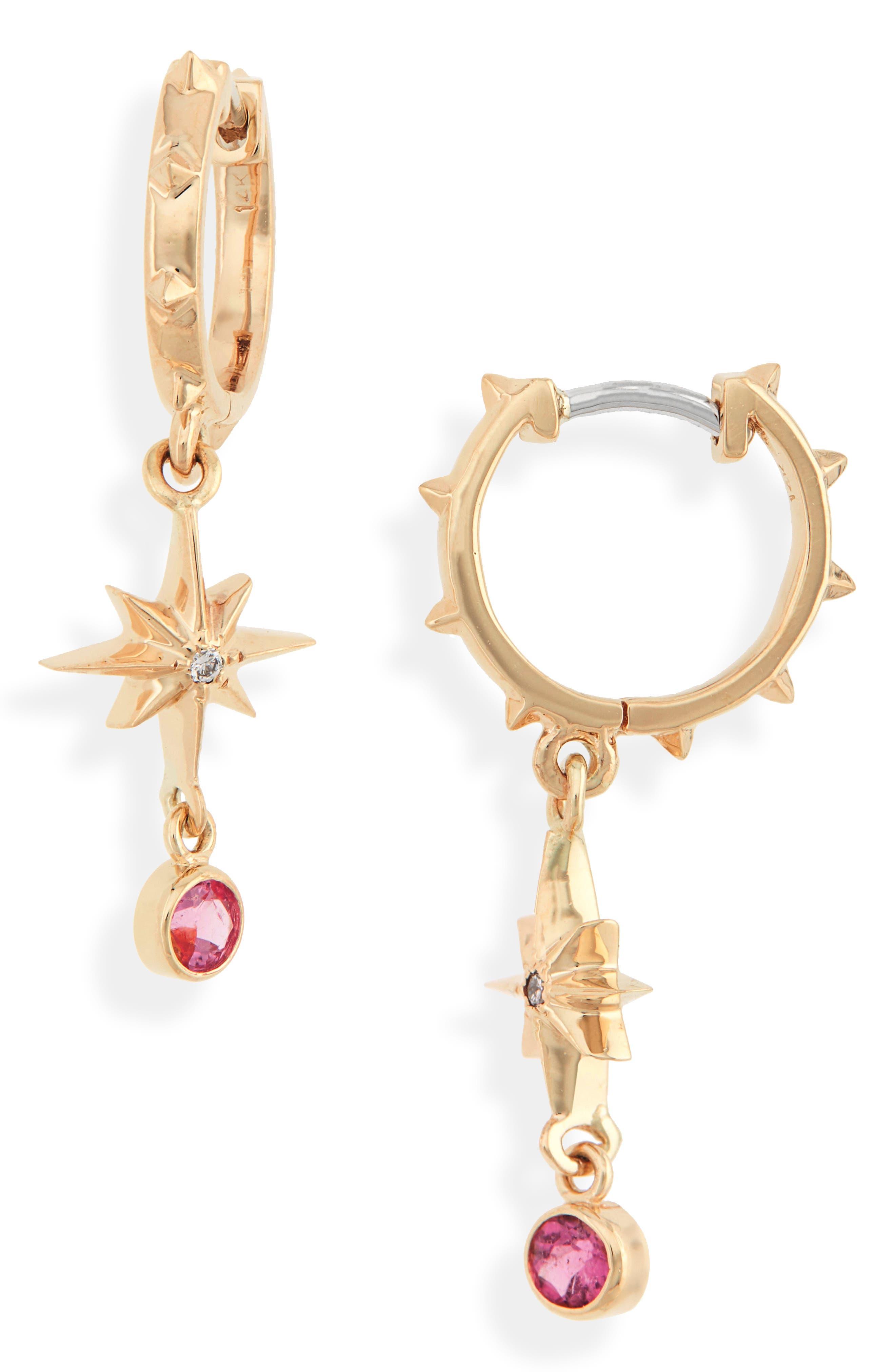 Lucky Star Diamond & Gemstone Earrings