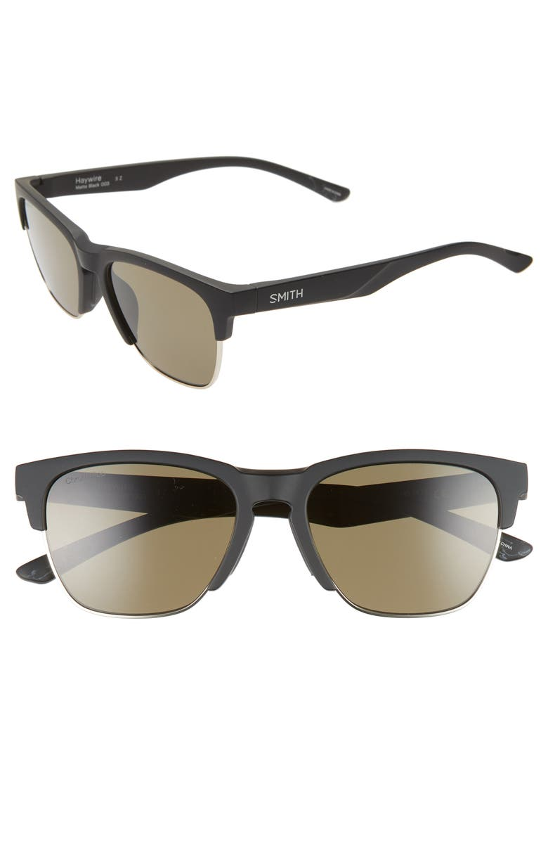 SMITH Haywire 55mm ChromaPop<sup>™</sup> Polarized Sunglasses, Main, color, 001