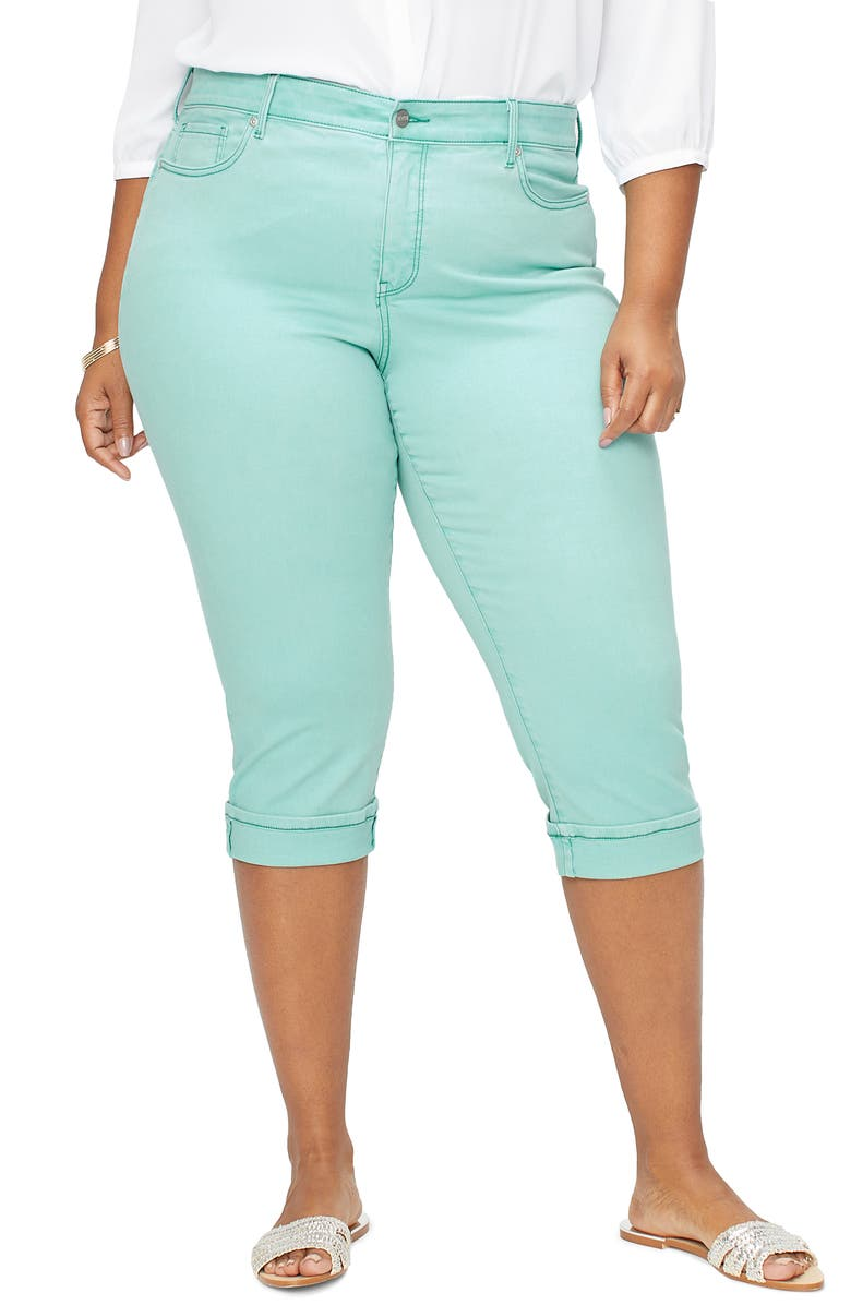 NYDJ Marilyn Straight Leg Capri Jeans, Main, color, BLUE DAISY