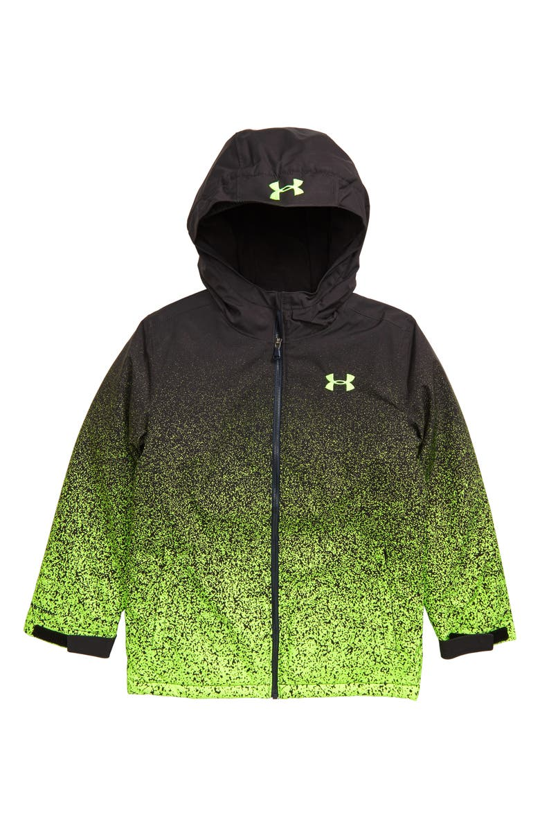 UNDER ARMOUR Blackrun ColdGear<sup>®</sup> Waterproof Insulated Hooded Jacket, Main, color, BLACK