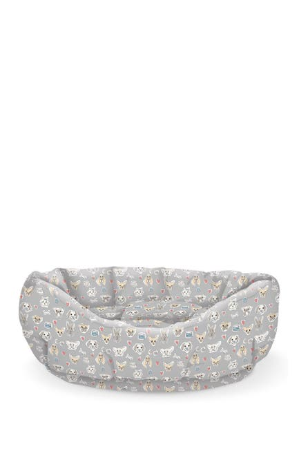 Image of Fringe Studio Worried Dog Medium Gray Large Cuddler Pet Bed