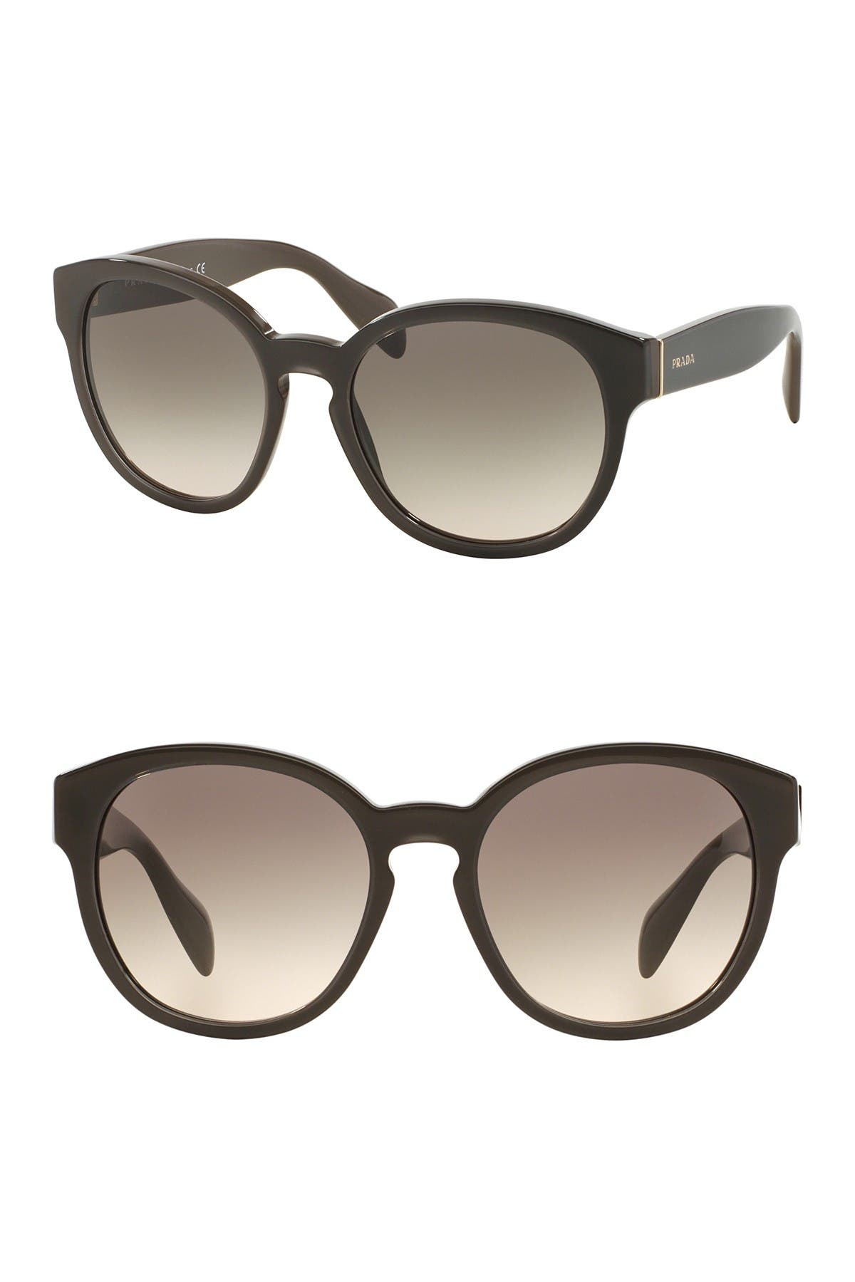 Image of Prada 56mm Round Sunglasses