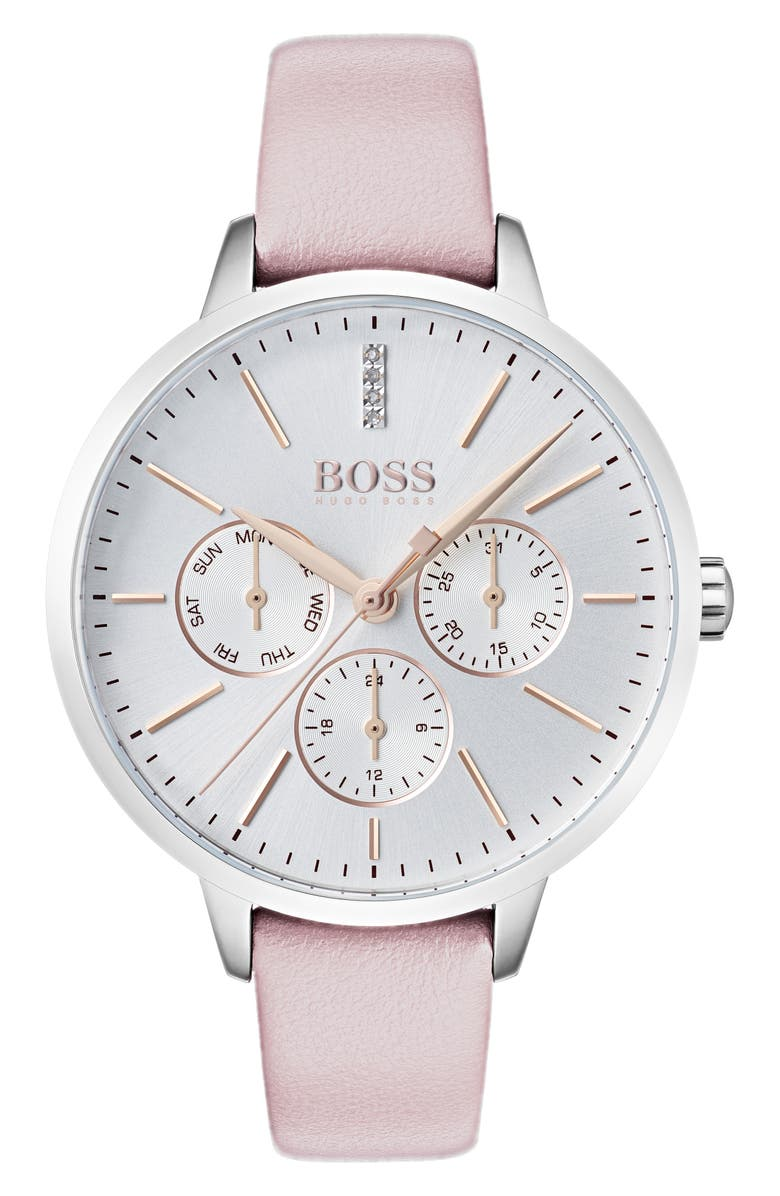 BOSS Symphony Leather Strap Watch 38mm