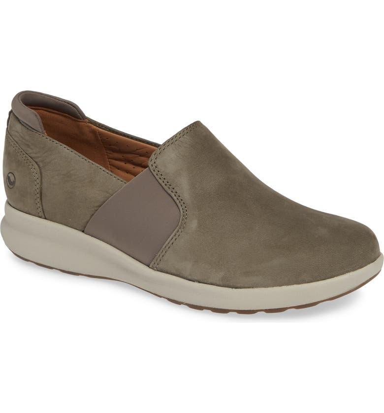 CLARKS<SUP>®</SUP> Un Adorn Step Sneaker, Main, color, TAUPE NUBUCK
