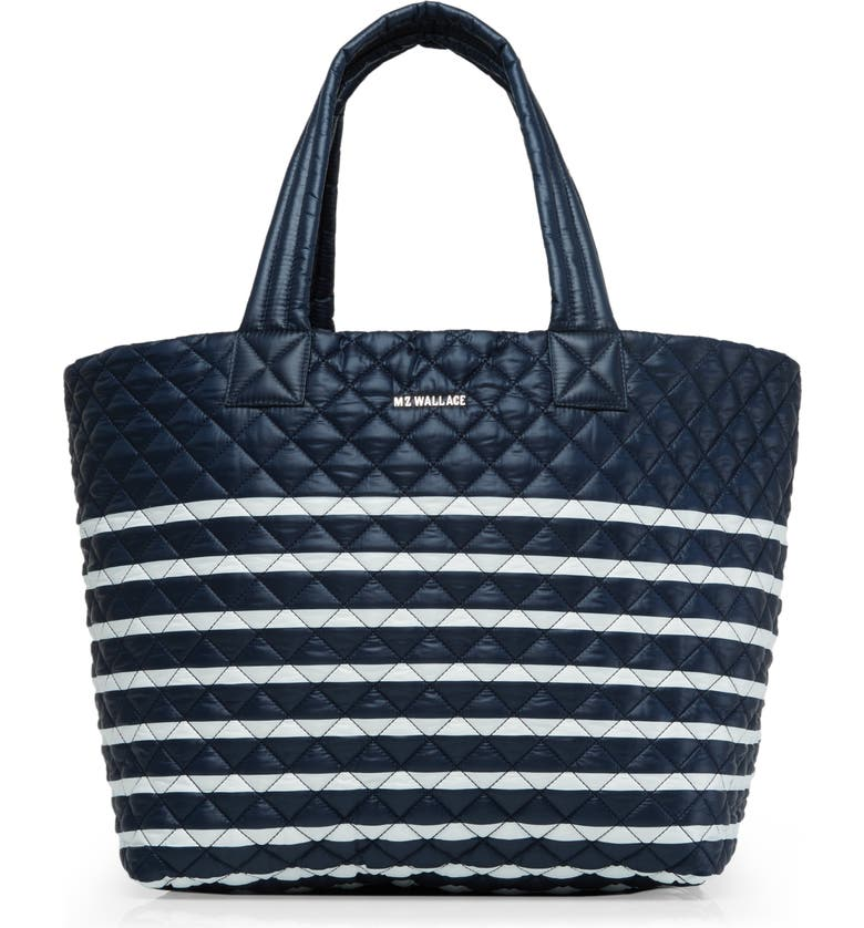MZ WALLACE Large Metro Tote, Main, color, CHARTER STRIPE