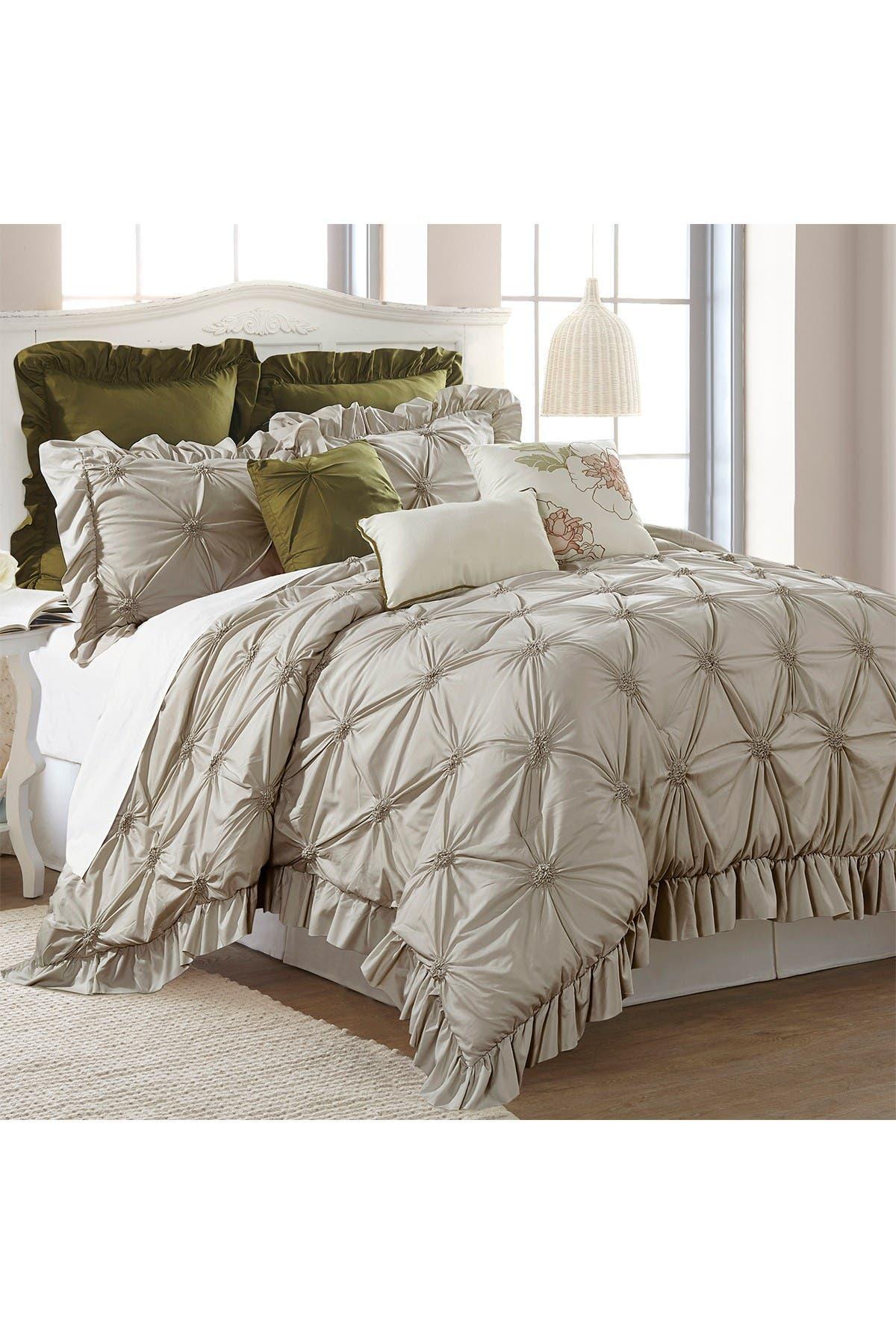 Image of Modern Threads Queen Caroline Comforter Set - Taupe