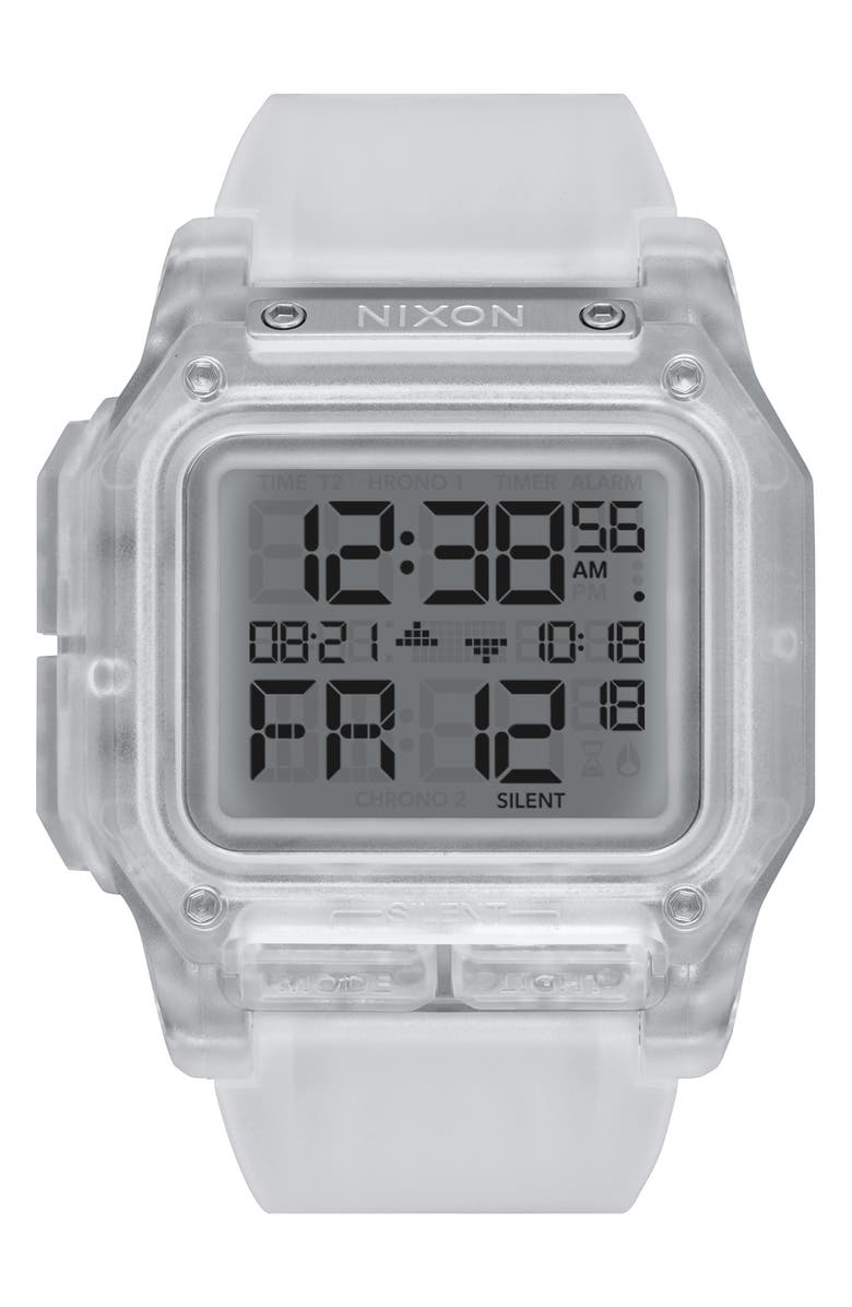 NIXON Regulus Digital Watch, 46mm, Main, color, GREY/ CLEAR