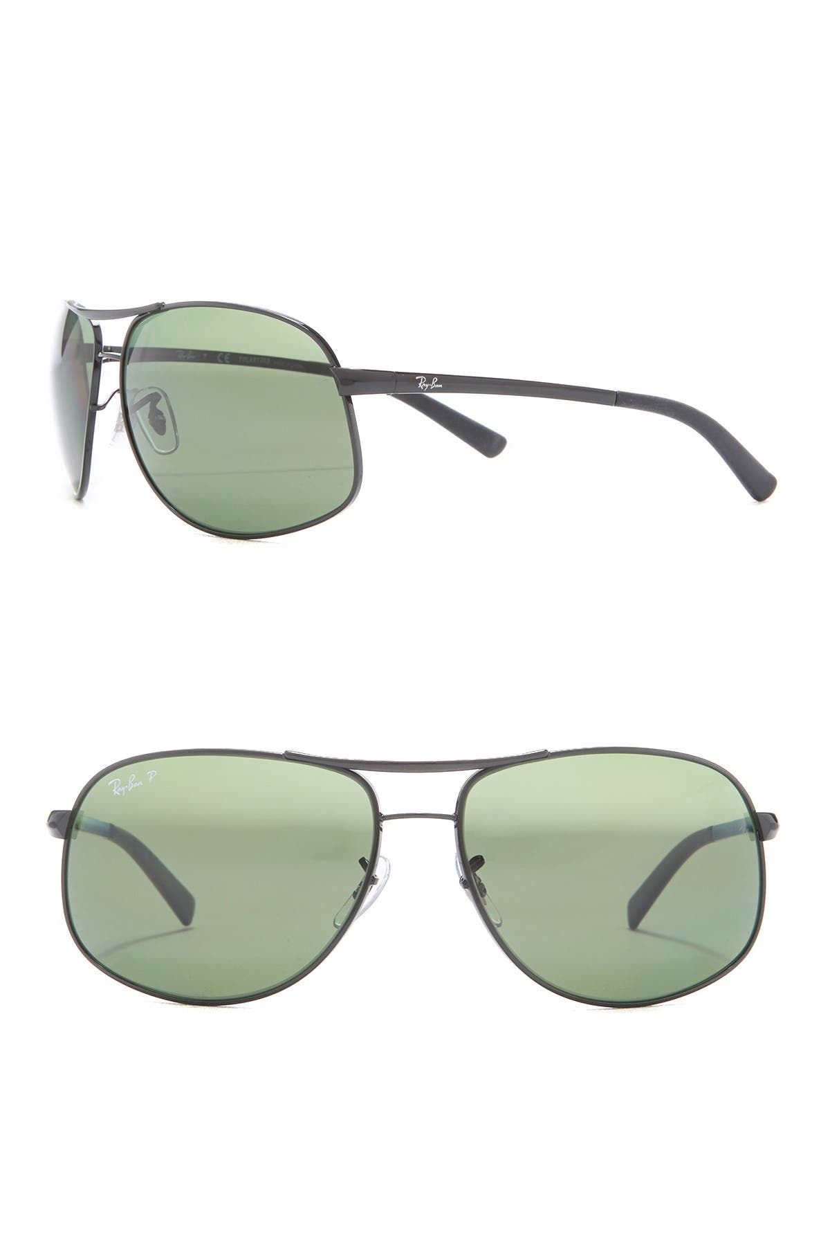 Image of Ray-Ban 64mm Pilot Polarized Sunglasses