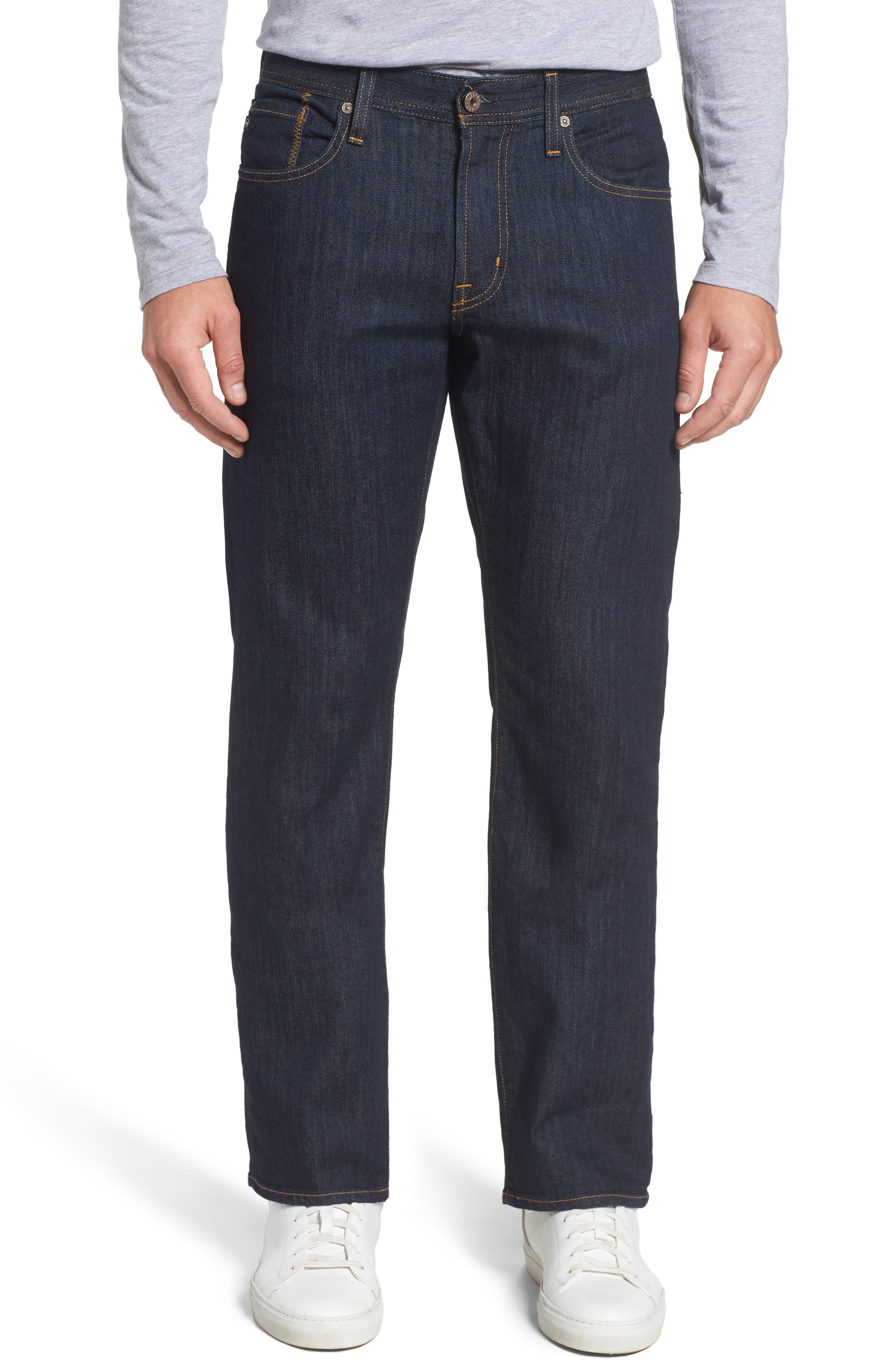 'Protégé' Straight Leg Jeans, Main, color, 016