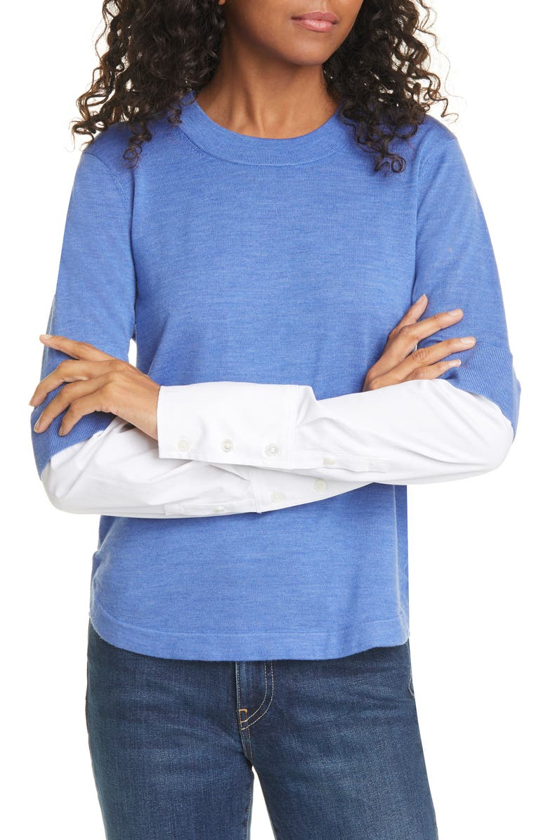 VERONICA BEARD Roscoe Mixed Media Sweater, Main, color, 400