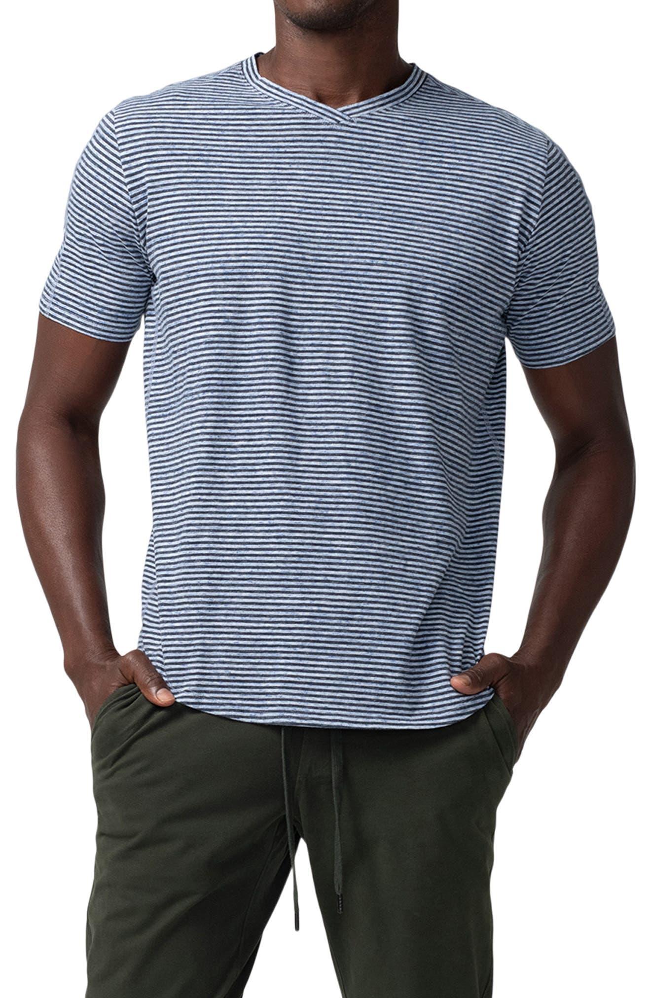 Hi Vee Stripe V-Neck T-Shirt