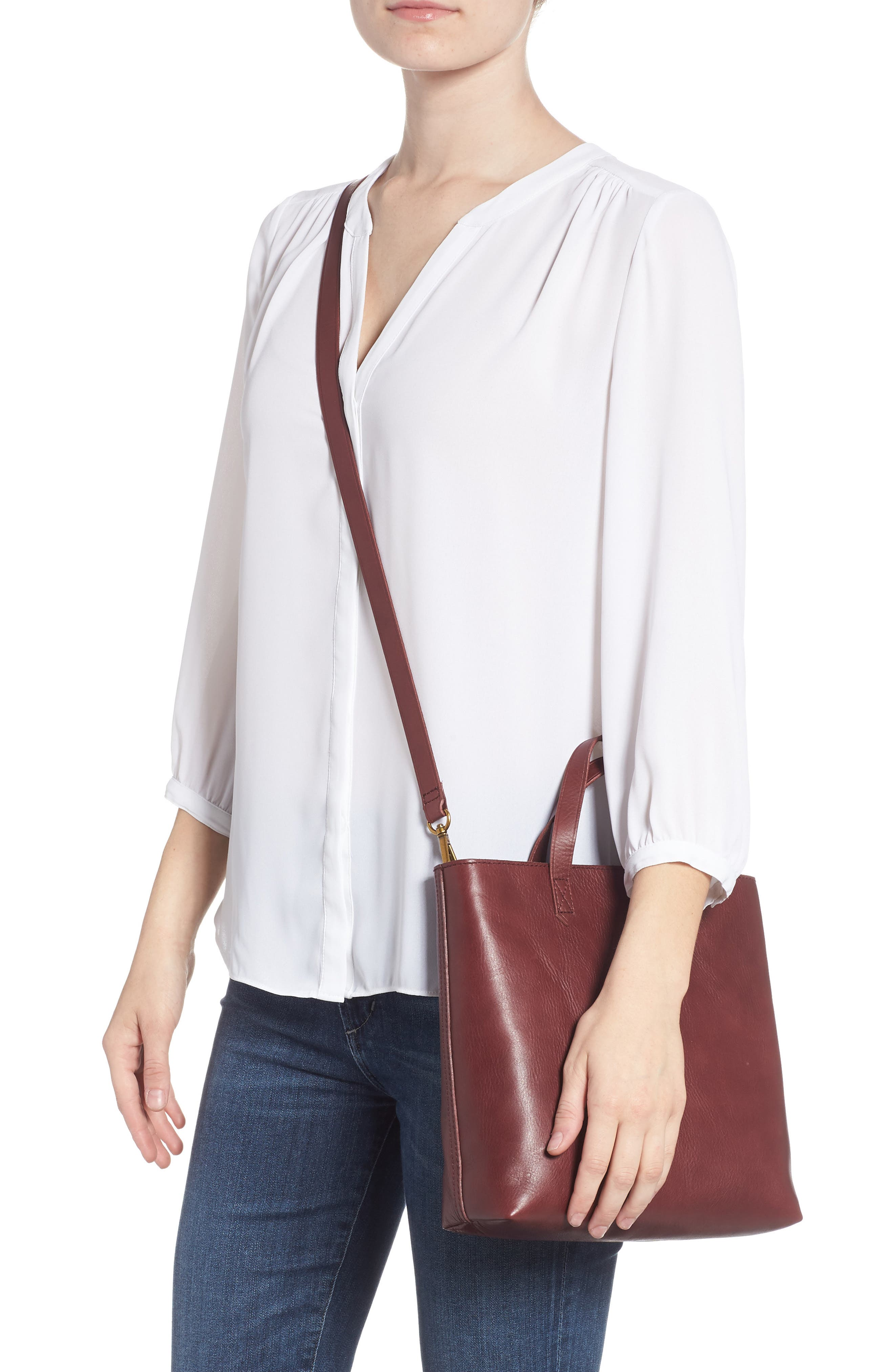 ,                             Small Transport Leather Crossbody Tote,                             Alternate thumbnail 27, color,                             930