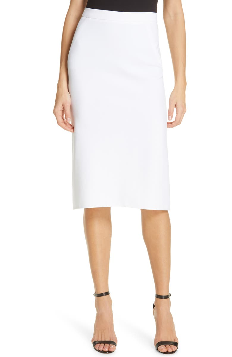 DVF Darcey Pleat Back Skirt, Main, color, 100