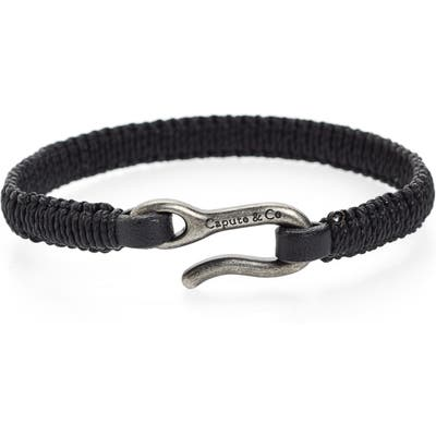 Caputo & Co. Hand-Knotted Leather Bracelet
