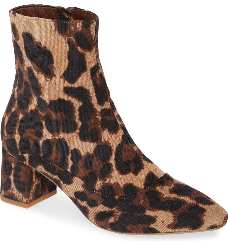 COCONUTS BY MATISSE Block Heel Bootie, Main, color, TAN LEOPARD PRINT