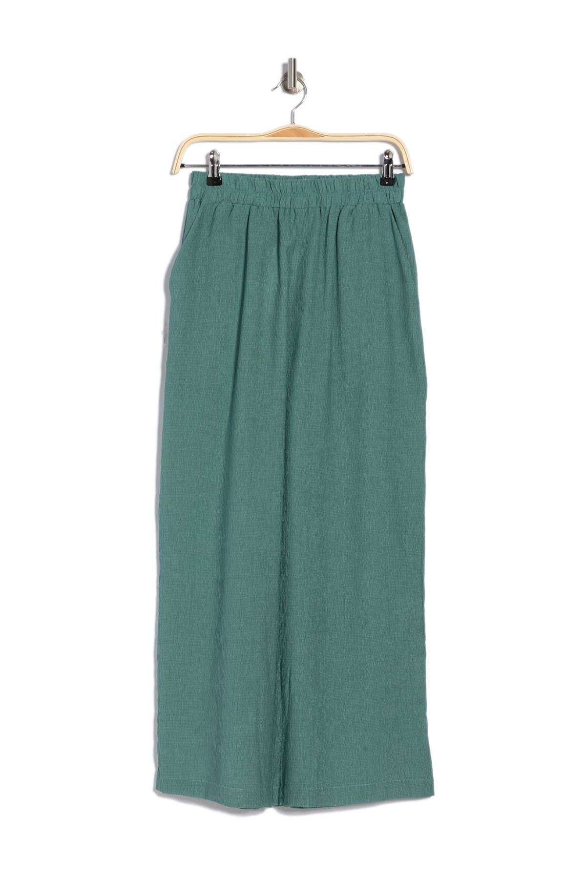 Melloday Gauze Pull-on Crop Pants In Green