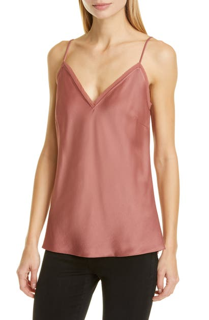 Frame Tops FRAY EDGE SATIN CAMISOLE