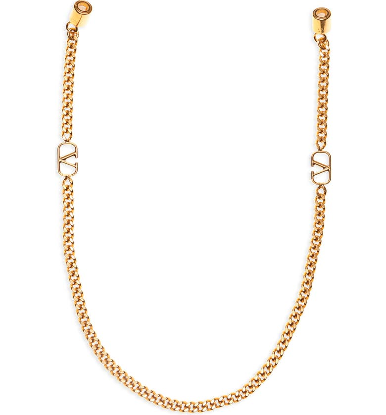 VALENTINO GARAVANI VLOGO AirPod Chain Strap, Main, color, ANTIQUE BRASS