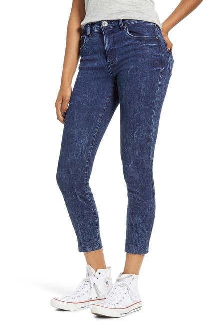 Image of STS BLUE Ellie High Rise Raw Hem Skinny Jeans