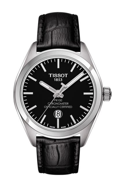 Image of Tissot Women's PR 100 Lady COSC Leather Watch, 33mm
