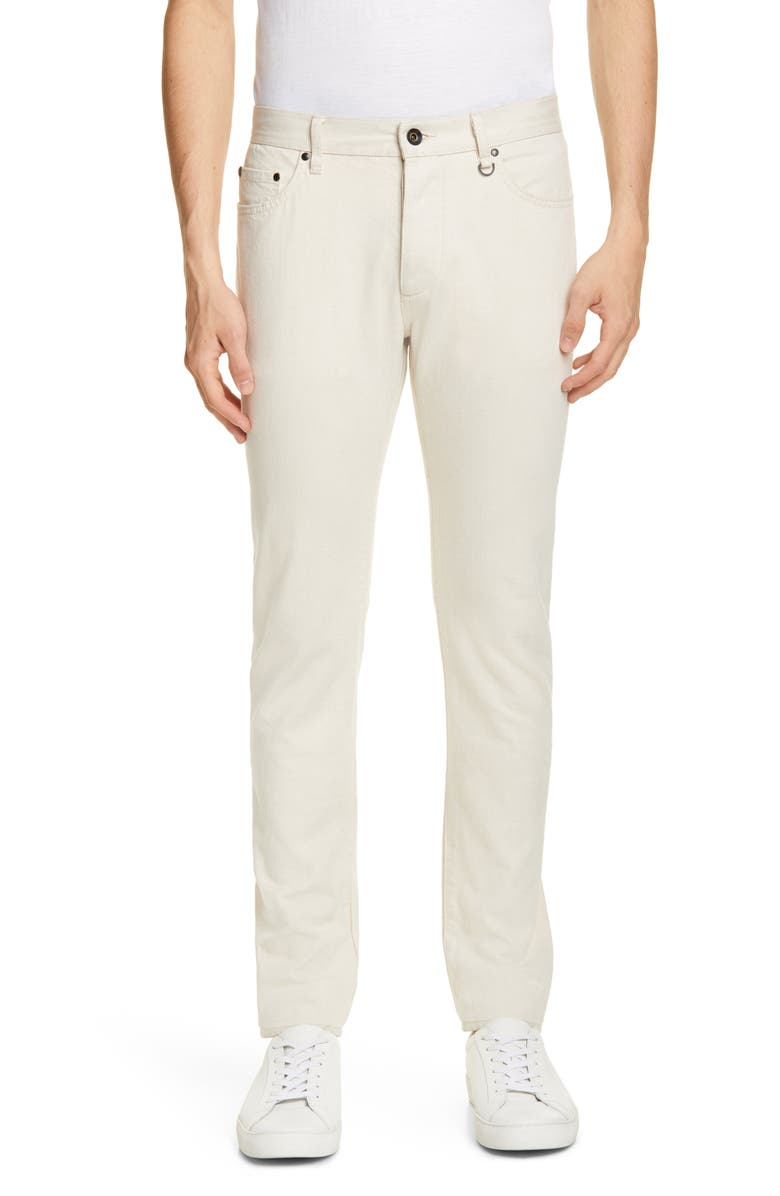 JOHN VARVATOS Chelsea Slim Fit Jeans, Main, color, WHITE