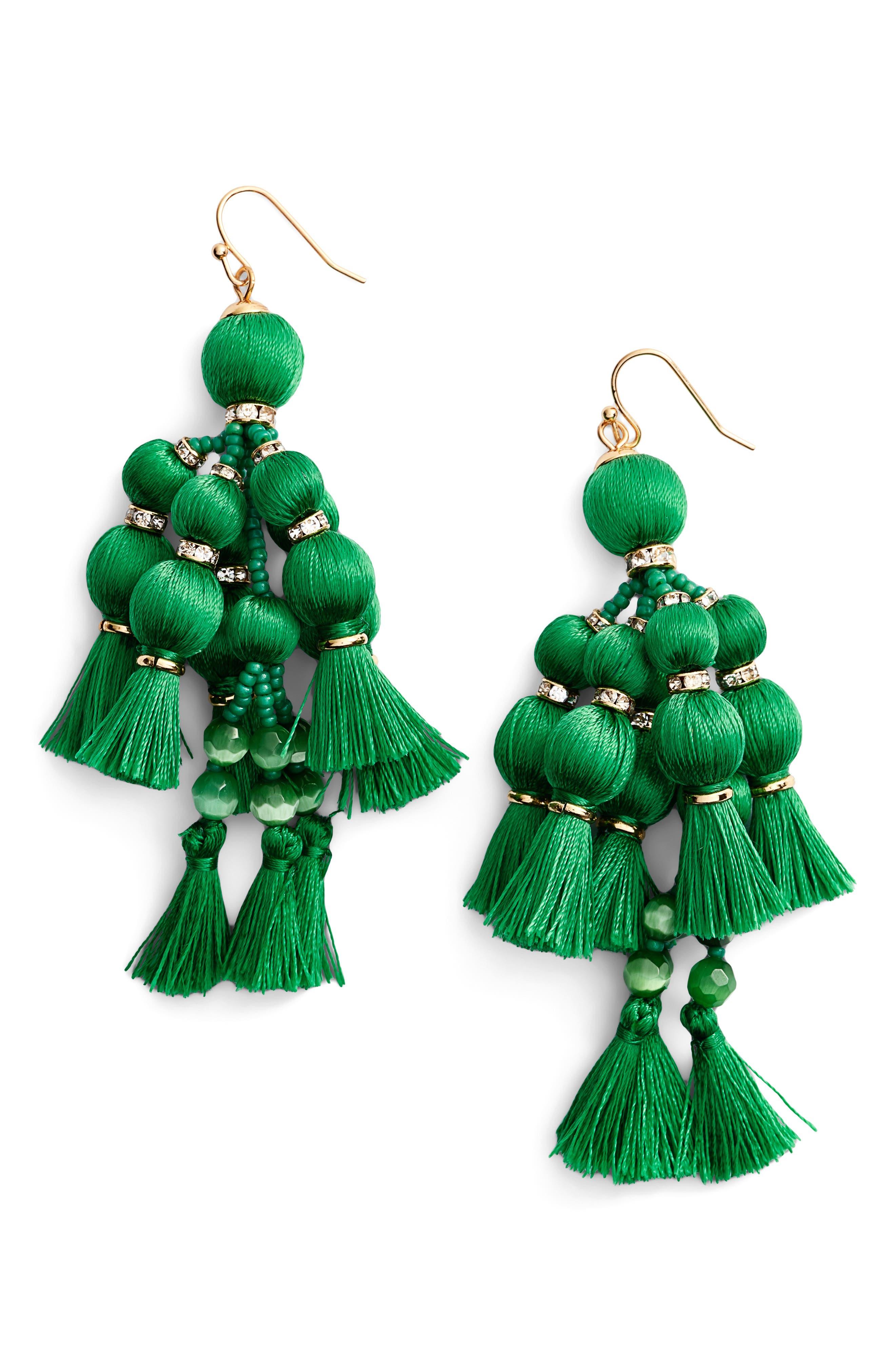 ,                             pretty pom tassel drop earrings,                             Main thumbnail 2, color,                             300