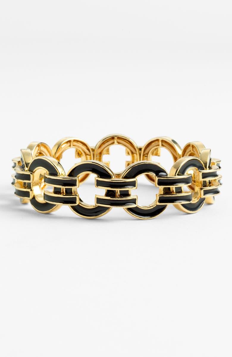 ANNE KLEIN Enamel Link Bracelet, Main, color, 001