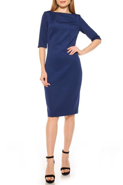 Image of Alexia Admor Boatneck Sheath Dress