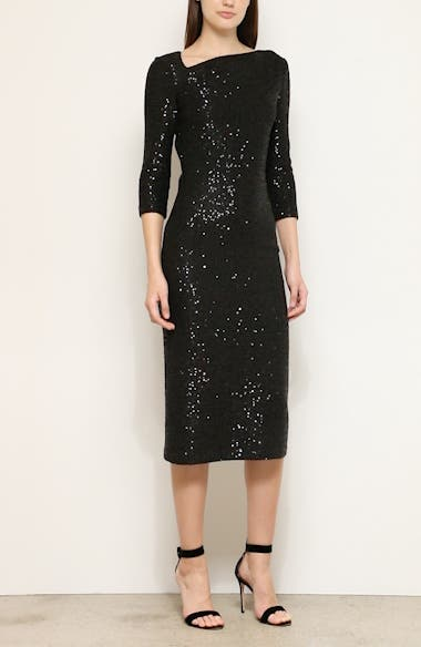 Statement Sequin Knit Midi Dress, video thumbnail