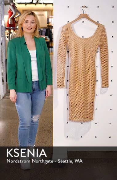 Long Sleeve Mesh Body-Con Dress, sales video thumbnail