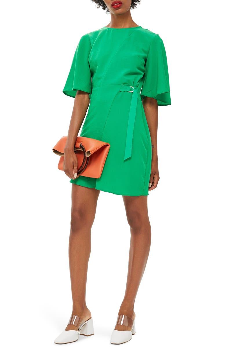 TOPSHOP Cutabout Minidress, Main, color, 300