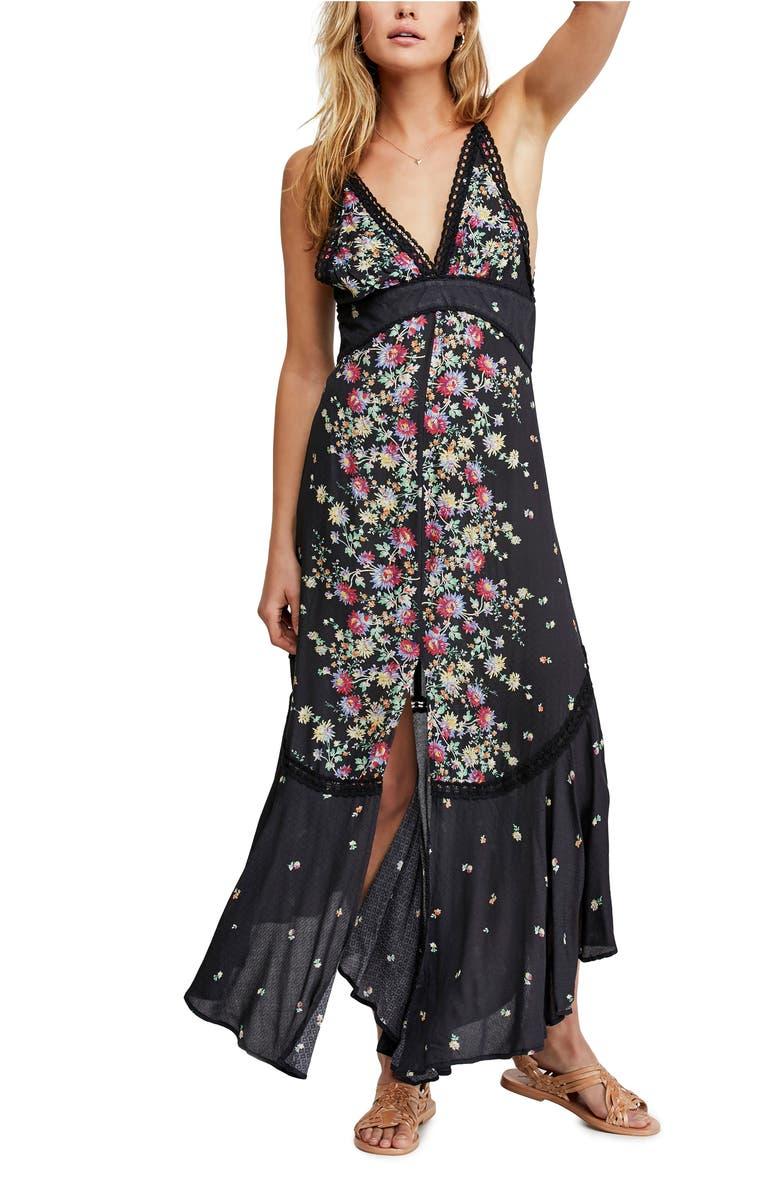 FREE PEOPLE Paradise Floral Print Maxi Dress, Main, color, 001